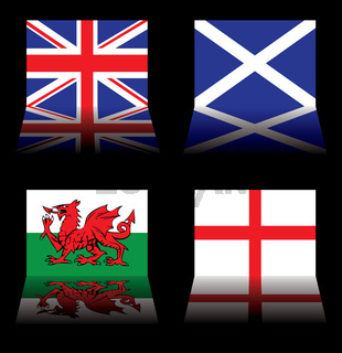 great britain flags