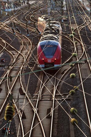 train at station Oberbarmen, Wuppertal, Bergisches Land, North Rhine-Westphalia, Germany, Europe