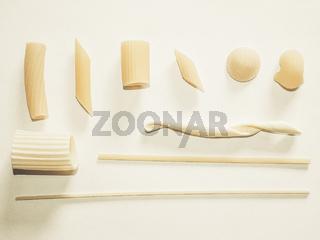 Italian pasta vintage desaturated