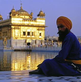 Sikh, Goldener Tempel, Amritsar, Punjab, Indien