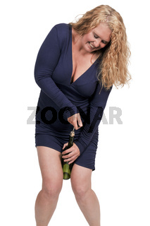 Middle Age Woman with Wine