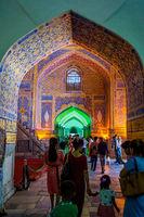 Interior of Tilya Kori Madrasah, Registan, Samarkand