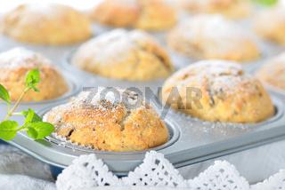 Stracciatella-Banane-Muffins