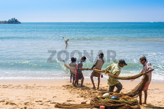 Fishery in the bay of Galle in the southern province of Sri Lanka