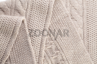 Close-up of a piece  knit fabric