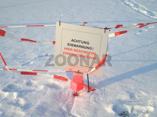 Eiswarnung auf der Aussenalster
