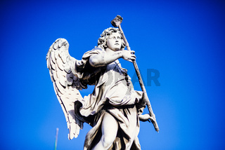 Italy, Rome, Castel Sant'Angelo, statue of Angelo with the sponge