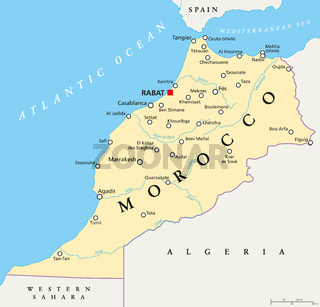Marokko politische Landkarte