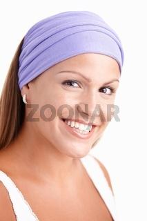 Portrait of pretty girl smiling
