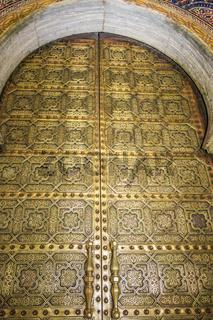 Decorated Doors At The Hassan Mosque Rabat