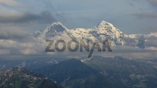 Famous mountains Eiger and Monch