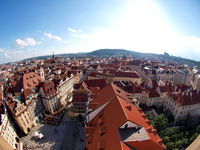 Panoramic view from Old Town Hall, Prague