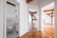 loft apartment after renovation - empty flat hallway