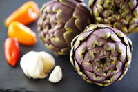 artichokes with garlic and chili