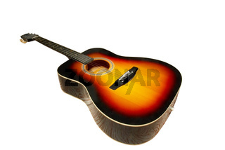 Classic guitar isolated on white.