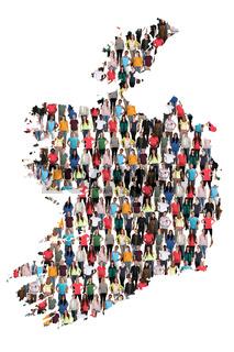 Irland Karte Leute Menschen People Gruppe Menschengruppe multikulturell