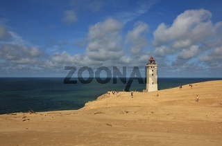 Old lighthouse on the Rubjerg Knude.
