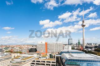 Berlin city skyline with TV tower