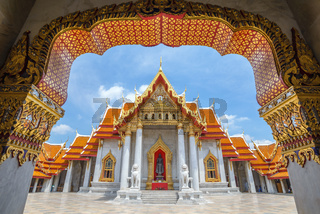 The Marble Temple or Wat Benchamabophit, Bangkok, Thailand