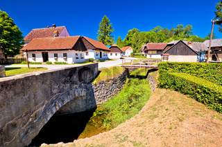 Kumrovec picturesque village in Zagorje region of Croatia