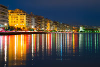 Thessaloniki at dusk, Greece