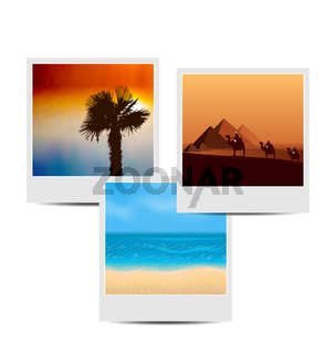 Photoframes with summertime background