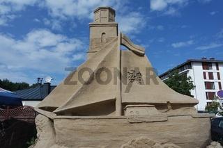 Sandskulpturen in der Stadt
