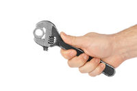 Adjustable spanner in hand