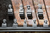 Bust group in the hall of fame, Danube-valley, Bavaria, Germany