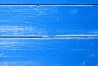 Blue Wooden Slats Background With Copy Space