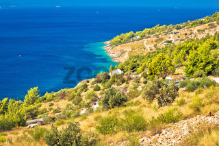 Scenic coast of Brac island
