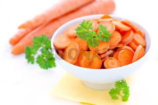 geschnittene Karotten