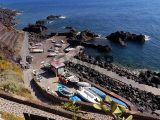 Hafen von Ginostra auf der Insel Stromboli, Liparische Inseln, Italien