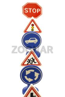 set of road sign