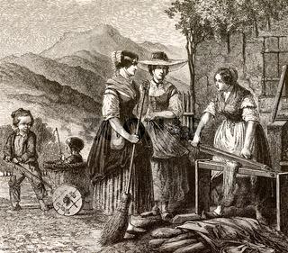 Flax processing 18th century