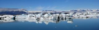 Der Gletschersee Jökulsárlón in Island