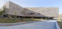 Jaen Iberian Art Museum, Spain. Main entrance ramp