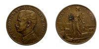 Five 5 cents Lire Copper Coin 1909 Prora Vittorio Emanuele III Kingdom of Italy