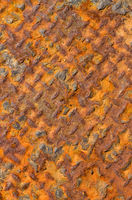 Old rusty weathered metal close up.