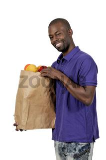 Black Man Grocery Shopping