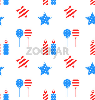 Seamless Texture with Objects for Independence Day