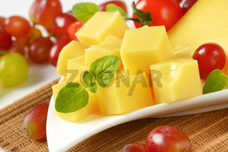 diced emmental cheese