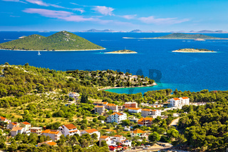 Kornati islands national park view from Drage