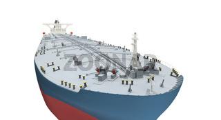 isolated big ship on white background