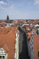 View from town hall over Gotha with St. Margarethen