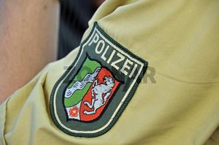 Polizeiabzeichen, Köln, Nordrhein-Westfalen, Deutschland, Europa