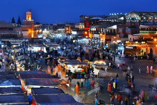 Jemaa el-Fnaa square in Medina of Marrakesh, Morocco