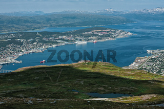 Panoramic view of Tromso and mountains, Norway