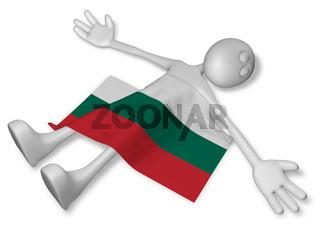 tote cartoonfigur und bulgarische flagge - 3d rendering