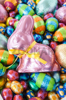 Bright cheerful easter eggs